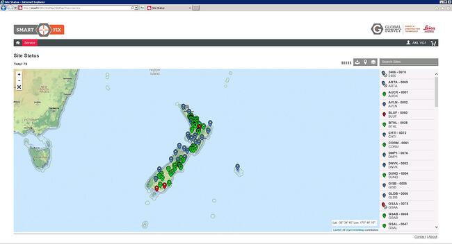 Real time site status and rover status - Map 3