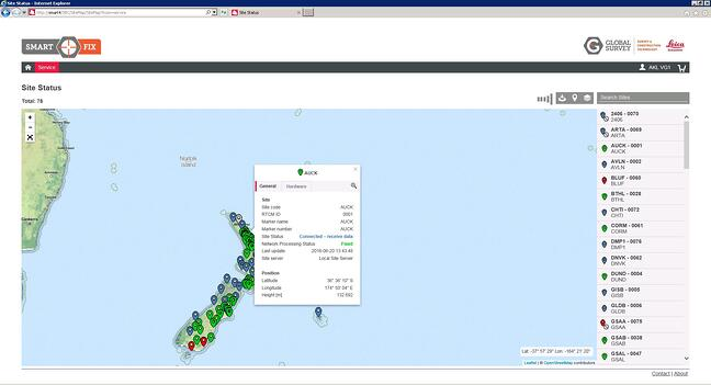 Real time site status and rover status - Map 4