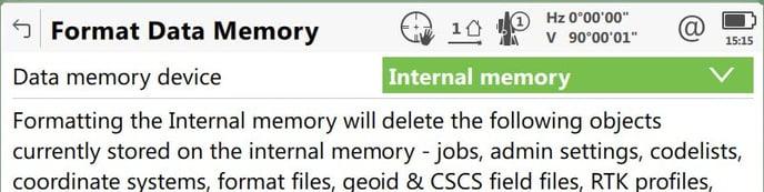 format internal memory
