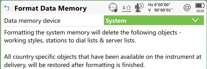 format system ra