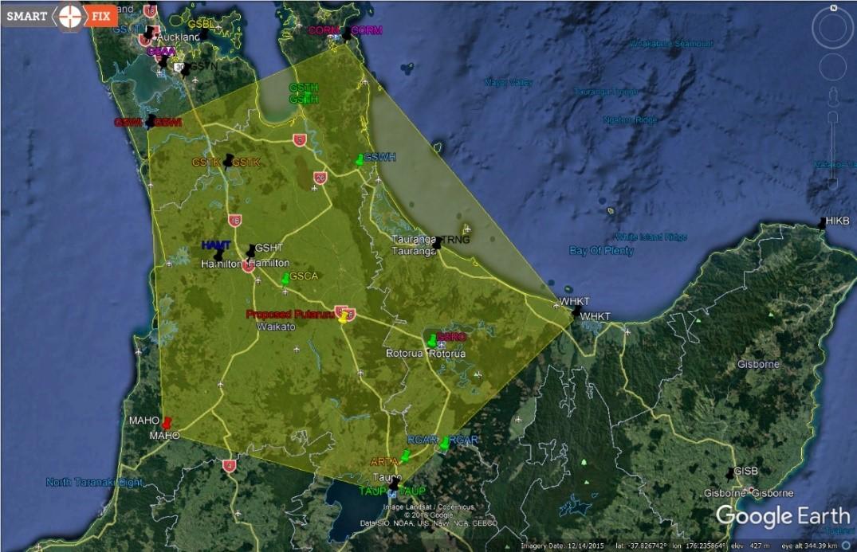GPS Glonass Fixed Cells - Waikato Region - Map